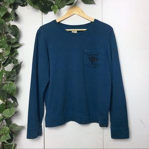 PINK VICTORIA'S SECRET Blue Logo Crew Neck Sweater